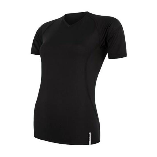 ženske majica Sensor Coolmax TECH kr.rukáv črna 20100021