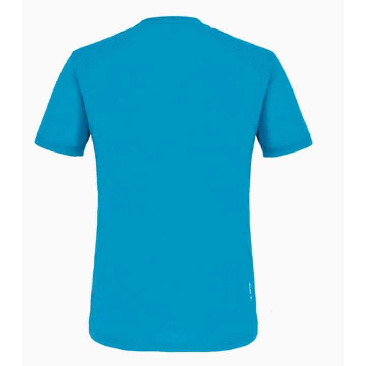 Moška majica Salewa Natisnjeno Polje Posuši modra Dunaj melange 28259-8989
