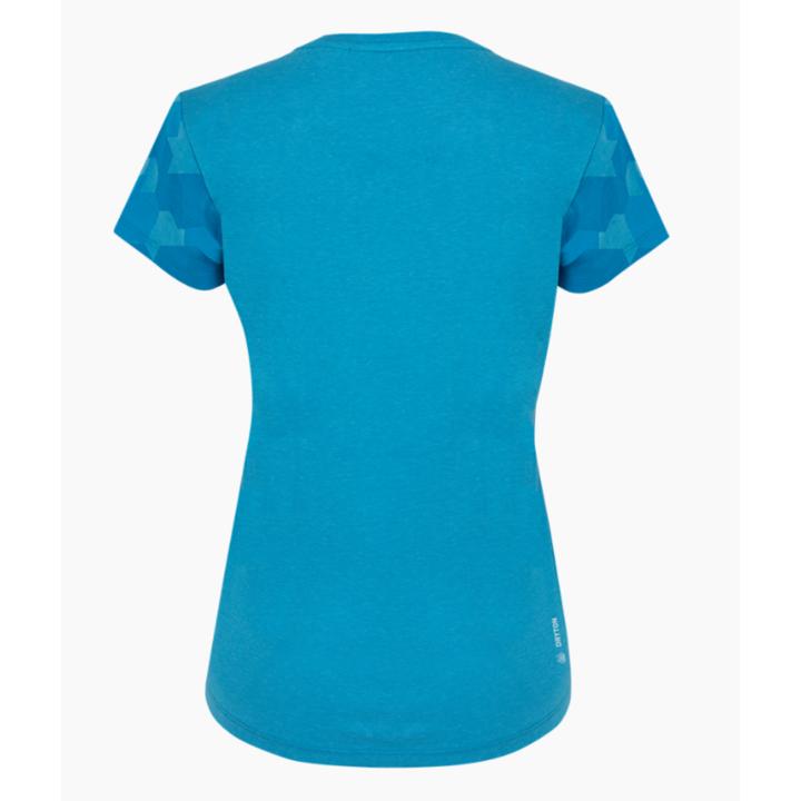 Ženska majica Salewa Camou Rokav Posuši modra Dunaj melange 28260-8989