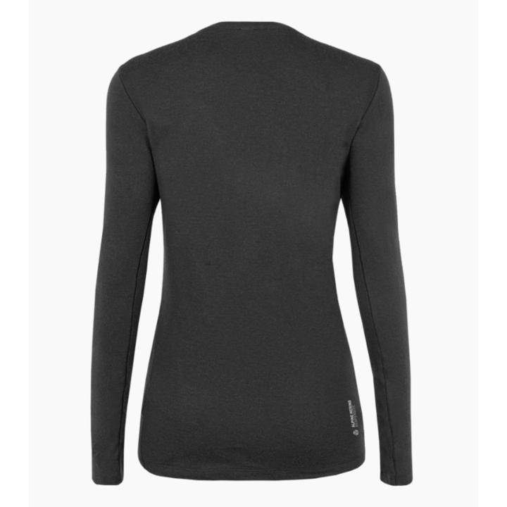 Ženska majica Salewa Čisto logo merino odziven dolga Rokav Tee zatemniti 28263-0910