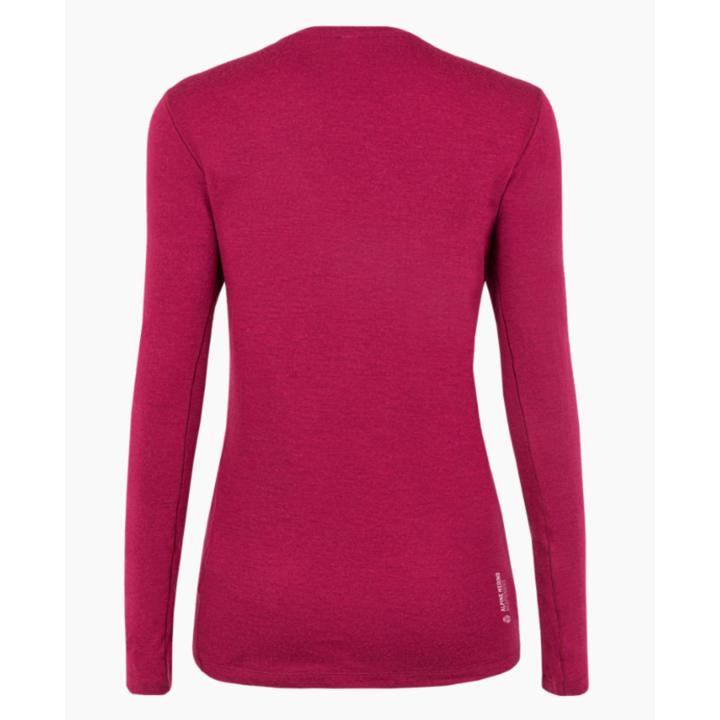 Ženska majica Salewa Čisto logo merino odziven dolga Rokav Tee rhodo rdeča 28263-6360