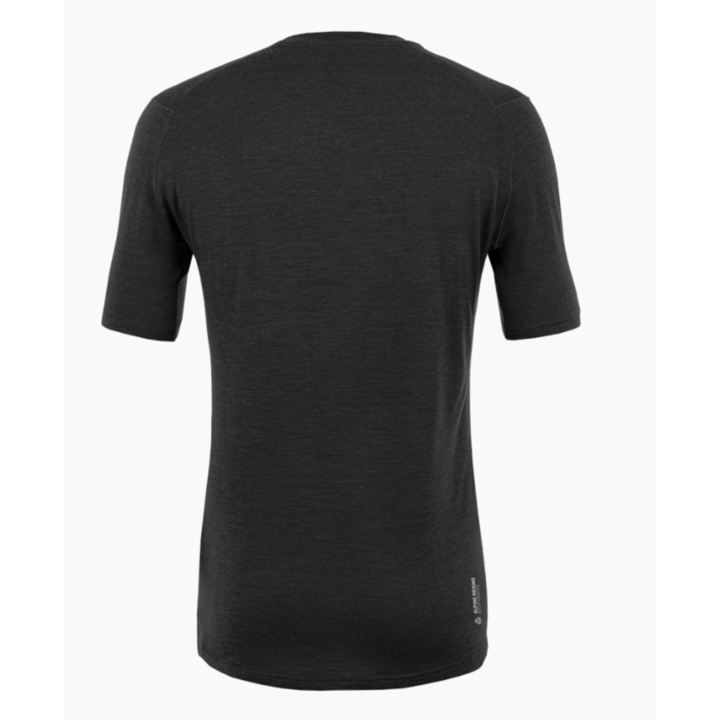 Moška majica Salewa Čisto logo merino odziven zatemniti 28264-0910