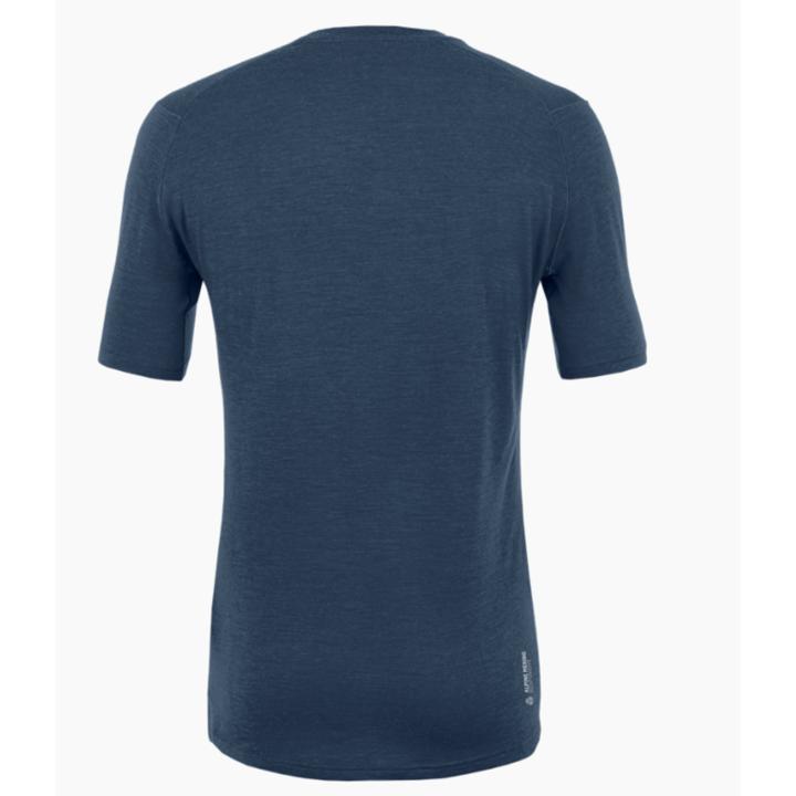 Moška majica Salewa Čisto logo merino odziven mornarski blazer 28264-3960