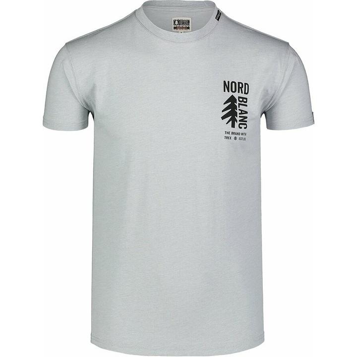 Moška bombažna majica Nordblanc SARMY siva NBSMT7390_SSM