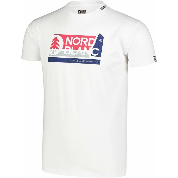 Moška bombažna majica Nordblanc WAL LON belo NBSMT7391_BLA
