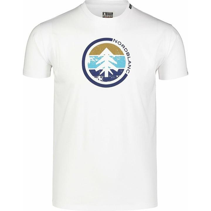 Moška bombažna majica Nordblanc TRICOLOR belo NBSMT7397_BLA