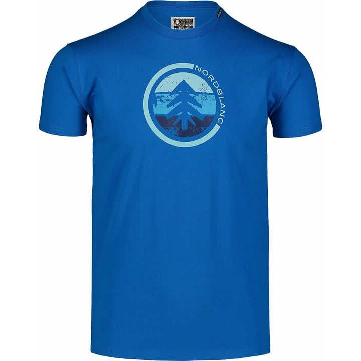 Moška bombažna majica Nordblanc TRICOLOR modra NBSMT7397_INM