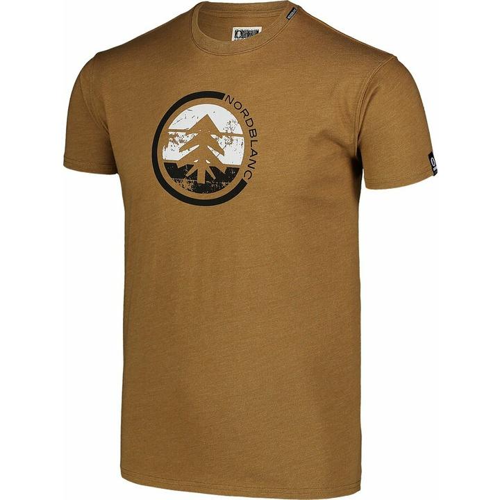 Moška bombažna majica Nordblanc TRICOLOR rjava NBSMT7397_PUH