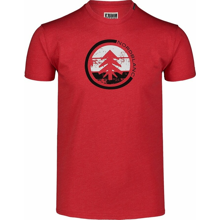 Moška bombažna majica Nordblanc TRICOLOR rdeča NBSMT7397_TCV
