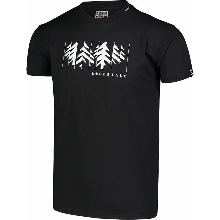 Moška bombažna majica Nordblanc DECONSTRUCTED Črna NBSMT7398_CRN