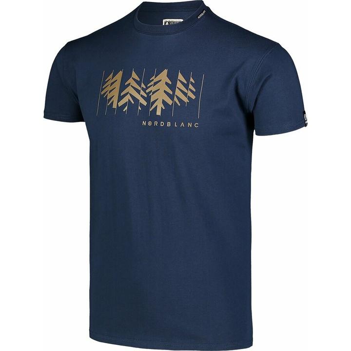 Moška bombažna majica Nordblanc DECONSTRUCTED modra NBSMT7398_MOB