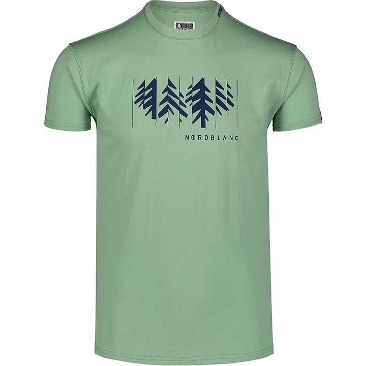 Moška bombažna majica Nordblanc DECONSTRUCTED zelena NBSMT7398_PAZ