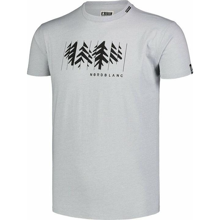 Moška bombažna majica Nordblanc DECONSTRUCTED siva NBSMT7398_SSM