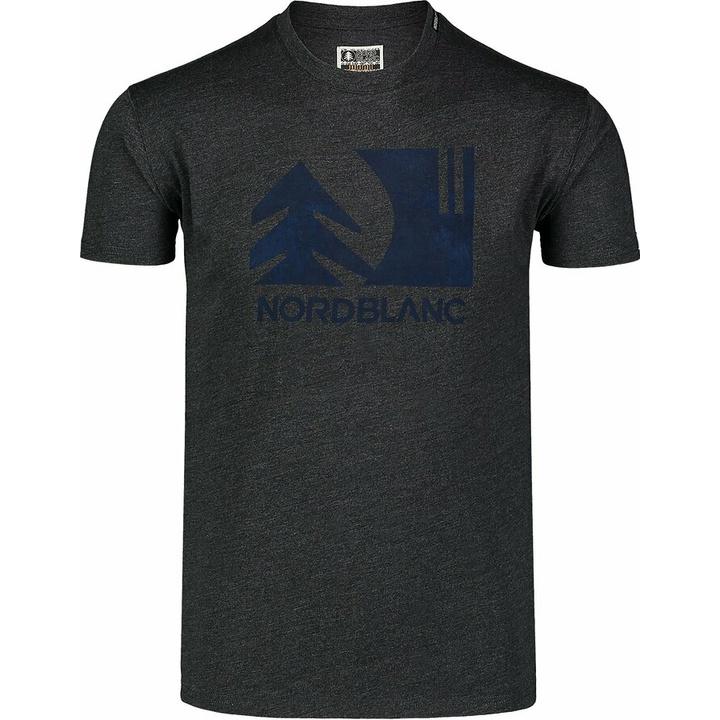Moška bombažna majica Nordblanc TREETOP črna NBSMT7399_CEM