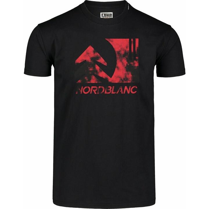 Moška bombažna majica Nordblanc TREETOP Črna NBSMT7399_CRN