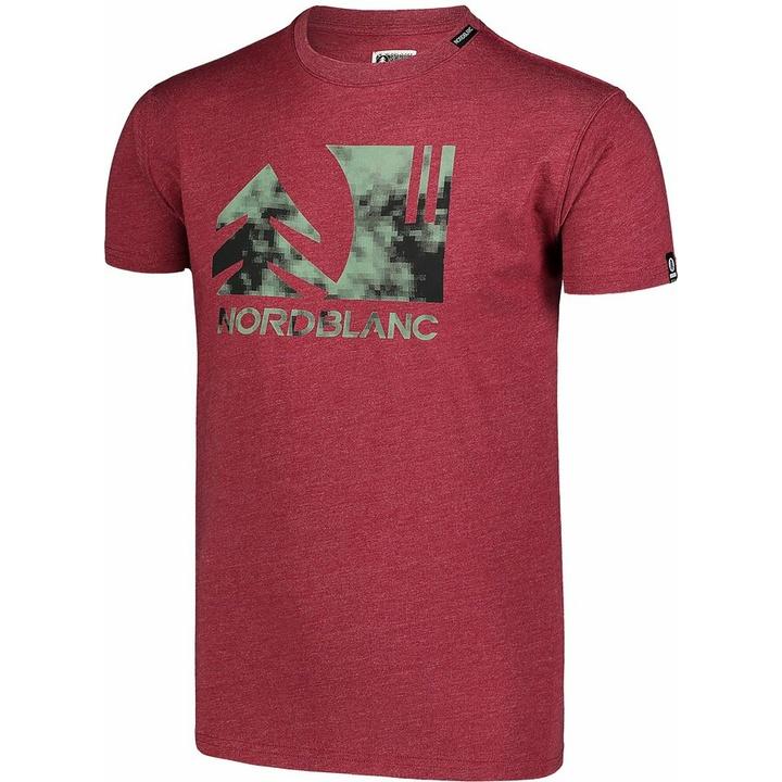 Moška bombažna majica Nordblanc TREETOP vino NBSMT7399_HCA
