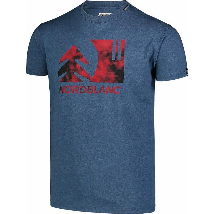 Moška bombažna majica Nordblanc TREETOP modra NBSMT7399_SRM