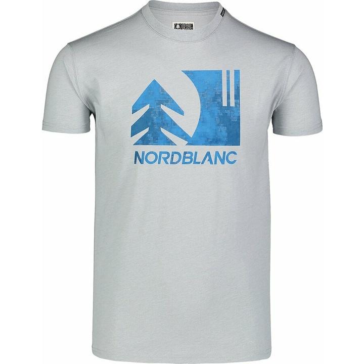Moška bombažna majica Nordblanc TREETOP siva NBSMT7399_SSM