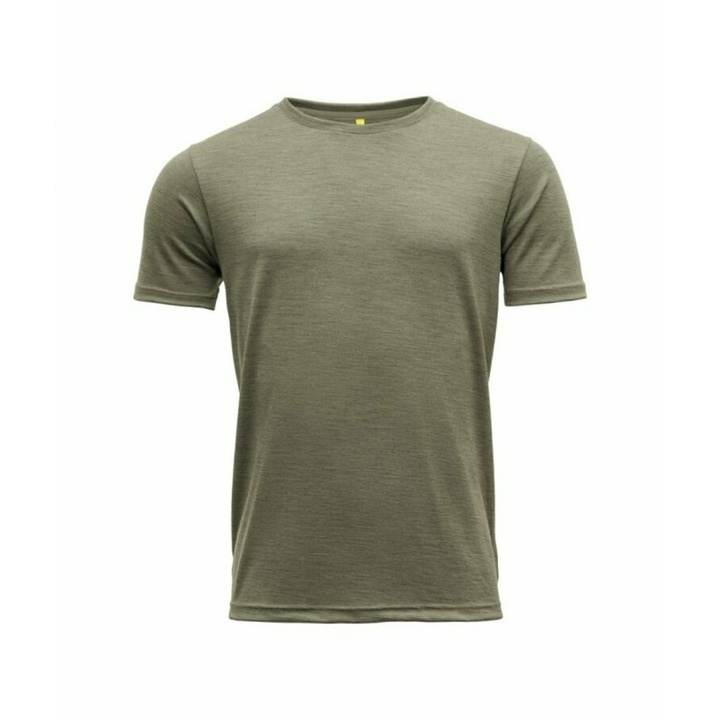 Moška volnena majica s kratkimi rokavi Devold Eika GO 181 280 B 404A zelena