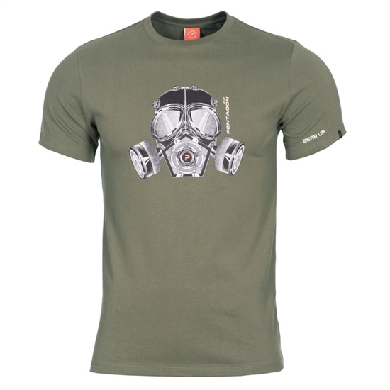 moški majica PENTAGON® plin maska olivno zelena