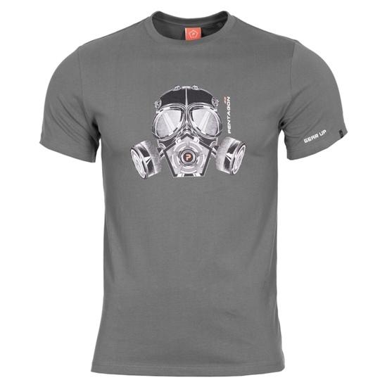 moški majica PENTAGON® plin maska volk siva
