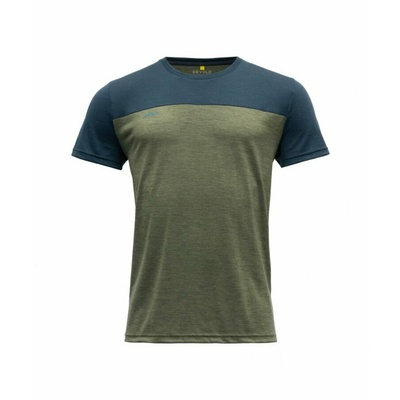Moška volnena majica s kratkimi rokavi Devold Keenrang GO 180 213 B 404A zelena