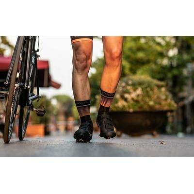 funkciShelna nogavice Rogelli HERO ne self za kolesarji, črno-oranžna 007.905, Rogelli