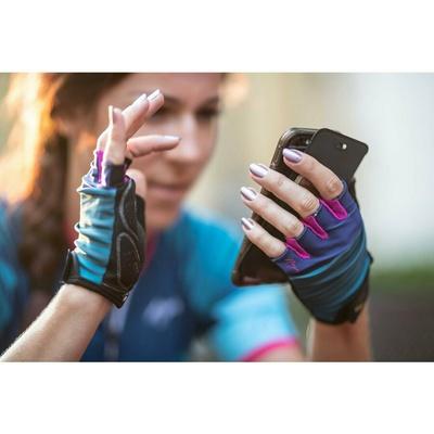 ženske kolesarjenje rokavice Rogelli IMPRESS, modro-roza 010.600, Rogelli