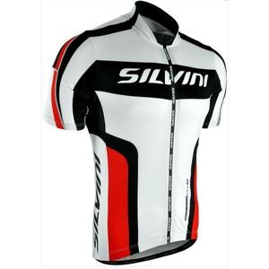 moški kolesarjenje majica Silvini Lemmy MD603 bela-rdeča, Silvini