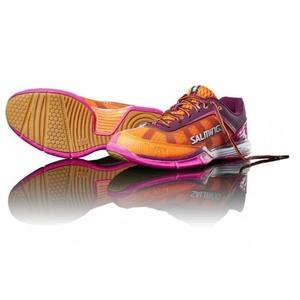 Boty Salming Viper 4 ženske Vijolična / oranžna, Salming