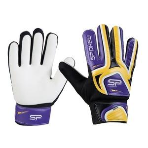 Spokey CATCH II vratar rokavice rumeno-vijolična, Spokey