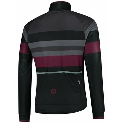 Ultra lahka kolesarji jakna Rogelli PEAK, črno-sivo-bordo 003.036, Rogelli
