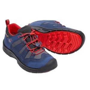 Otroci čevlji Keen Hikeport WP jr, obleko blues / firey rdeča, Keen