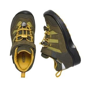 Otroci čevlji Keen Hikeport WP K, temno olive / citrusi, Keen