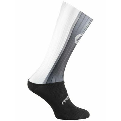 Aerodinamično funkcishelna nogavice Rogelli AERO, črno-sivo-bela 007.003, Rogelli