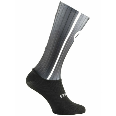 Aerodinamično funkcishelna nogavice Rogelli AERO, črno-siva 007.004, Rogelli