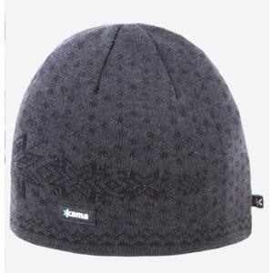 pletene Merino klobuk Kama A128 111 temno siva