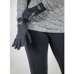 ženske tek na smučeh zima rokavice Rogelli Dotaknite se, 890.003. črna, Rogelli