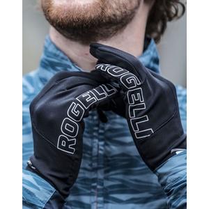 moški tek na smučeh zima rokavice Rogelli Dotaknite se, 890.001. črna, Rogelli