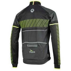 moški softshell jakna Rogelli Ritmo, 003.255. črno-odsevni oranžna, Rogelli