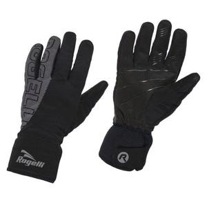 moški softshell rokavice Rogelli Flash, 006.120. črna, Rogelli
