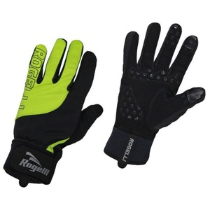 moški kolesarjenje rokavice Rogelli Storm, 006.125. črna odsevna rumena, Rogelli
