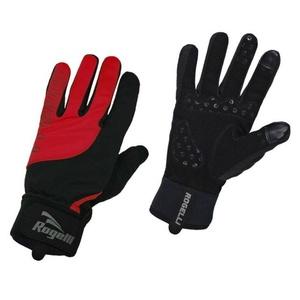 moški kolesarjenje rokavice Rogelli Storm, 006.126. črno-rdeča, Rogelli