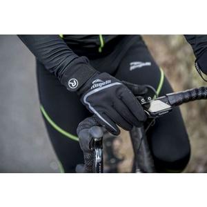 moški kolesarjenje rokavice Rogelli Shield, 006.128. črna, Rogelli