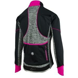 dame kolesarji jakna Rogelli Carlyn 2.0, 010.306. črno-sivo-roza, Rogelli