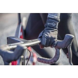 ženske kolesarjenje rokavice Rogelli Storm, 010.655. črna, Rogelli