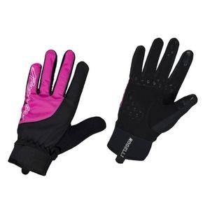 ženske kolesarjenje rokavice Rogelli Storm, 010.656. črni in roza, Rogelli