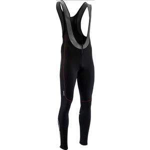 moški elastični zima hlače Silvini RUBENZA MP1317 črna rdeča, Silvini