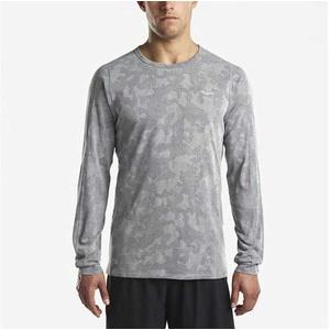 moški majica z dolgo rokav Saucony moški Negativno-Splt Žakard Ls Dark siva, Saucony