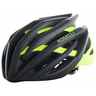 Ultra lahka kolesarjenje čelada Rogelli TECTA, črno-odsevni oranžna 009.812, Rogelli